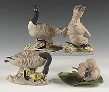 GROUP OF FOUR BOEHM PORCELAIN BIRD FIGURES