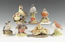 GROUP OF BOEHM PORCELAIN BIRD FIGURES