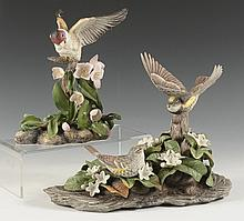 TWO BOEHM BIRD PORCELAIN FIGURES