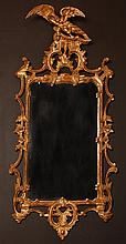 ROCOCCO GILDED WOOD MIRROR WITH EAGLE