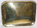 A silver gilt rectangular tray, French, circa