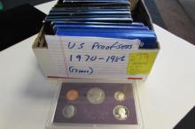 17 US PROOF SETS 1970-1986