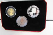 MILLENNIUM 2000 GOLD PROOF SET ISLE OF MAN SILVER