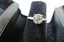 DIAMOND RING .80CT 14K WHITE GOLD ENGAGEMENT