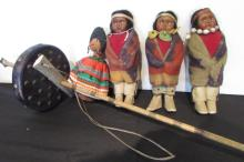 4 Native American Dolls (7