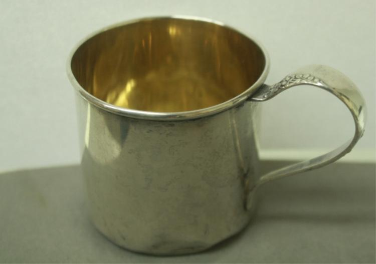 056277810733 BABY CUP LUNT SWEETHEART ROSE STERLING SILVER 54G