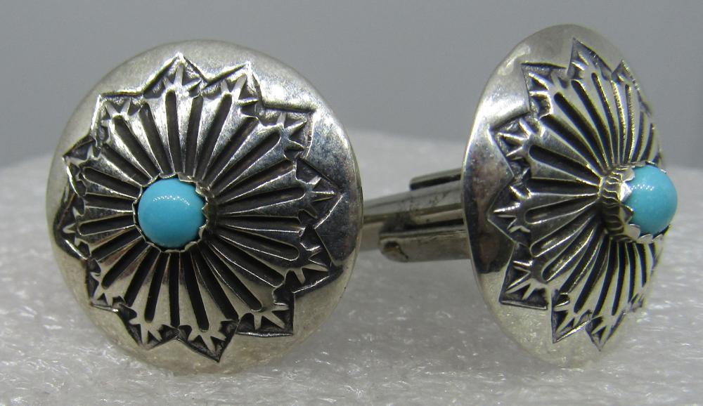 Sterling silver Navaho cufflinks