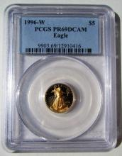 1996 W PROOF 69 $5 GOLD COIN LIBERTY EAGLE BULLION