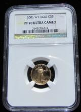 2006 $5 GOLD COIN NGC PF 70 W EAGLE ULTRA CAMEO