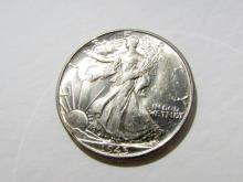 1945 GEM UNC WALKING LIBERTY HALF DOLLAR COIN