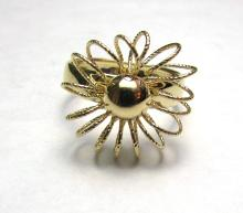 14k GOLD FLOWER RING WIRE SIZE 7