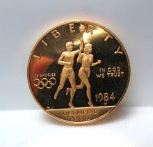1984 $10 GOLD 23rd OLYMPICS PROOF MINT COIN