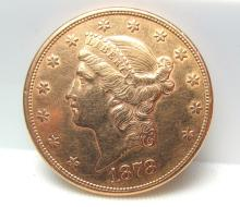 1878 $20 GOLD COIN DOLLAR LIBERTY HEAD EAGLE