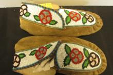 Beaded Leather Native American Boots Shoes Slipper