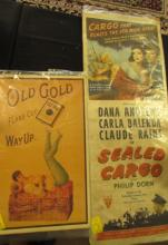2 Posters Movie & Tobacco Advertising Lobby 1950's