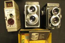 Movie Cameras: Bell Howell, Ricohflex, Rolleicord
