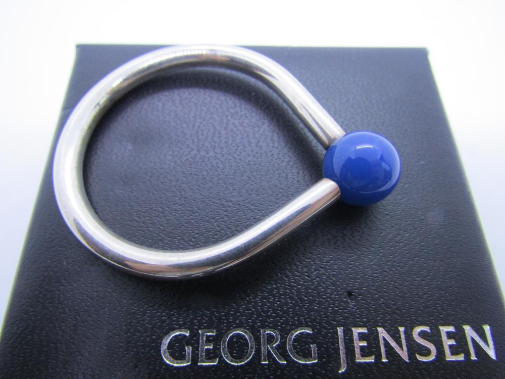 GEORG JENSEN Schlüsselring Keyring BLACK in Schmuckbox sealed in Box