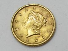 1853 US 1 DOLLAR GOLD COIN