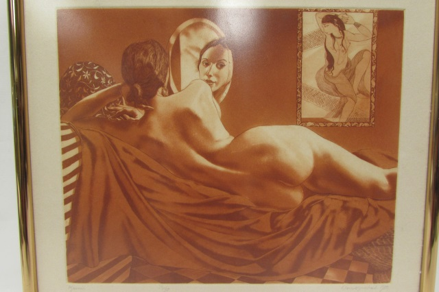 DAVID BUMBECK KASMIR 32/50 SIGNED NUDE ETCHING