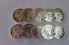 (10) PROOF SILVER BUFFALO 1 OZ COIN.999 FINE