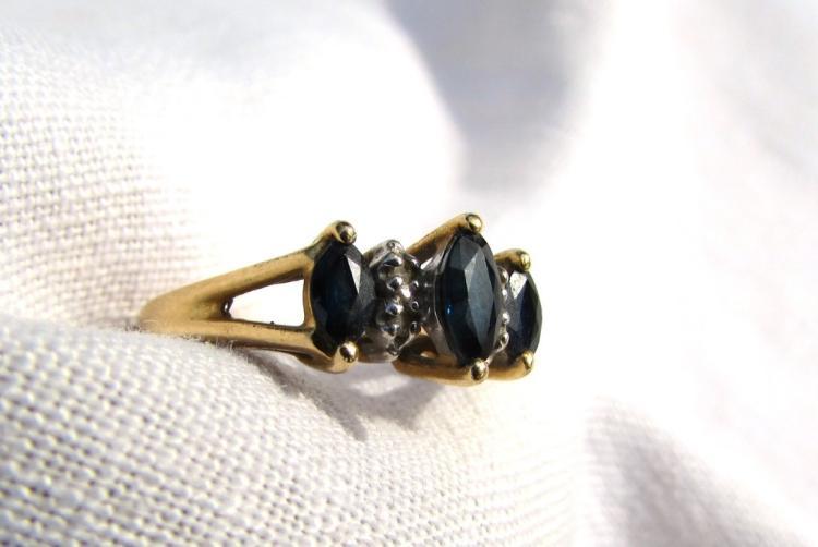 .70CT SAPPHIRE DIAMOND RING 14K GOLD SIZE 7