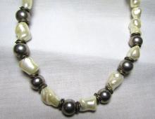 PEARL & STERLING SILVER NECKLACE HUGE 70.4GRAMS