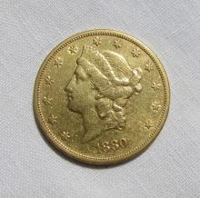 1880 S $20 GOLD COIN DOUBLE EAGLE LIBERTY HEAD EF