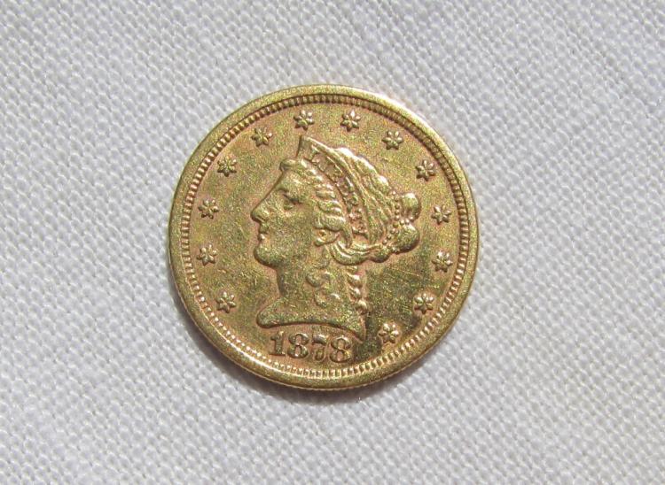 1878 S $2.5 GOLD COIN LIBERTY HEAD QUARTER EAGLE