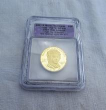 2007 W $10 GOLD COIN WASHINGTON ICG US PROOF FIRST