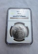 1885 O $1 MORGAN SILVER DOLLAR COIN MS63 NGC UNC