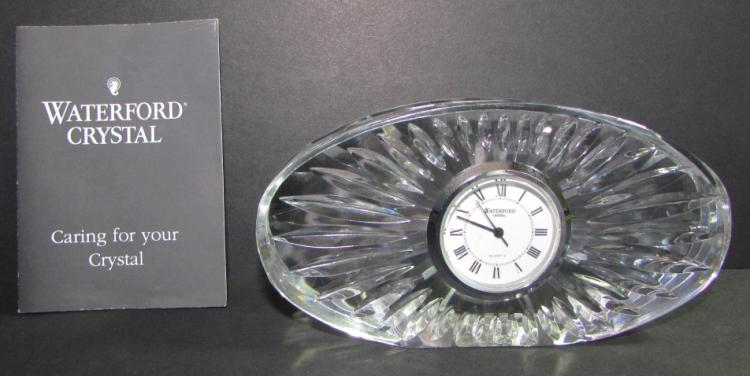 WATERFORD CRYSTAL CLOCK DESK QUARTZ SIGNED