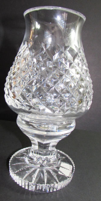 WATERFORD CRYSTAL HURRICANE LAMP ALANA VOTIVE 2PC