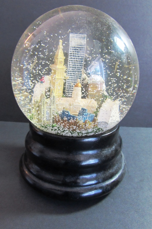 SNOW GLOBE SAKS FIFTH AVE DENVER CITY VIEW MUSICAL