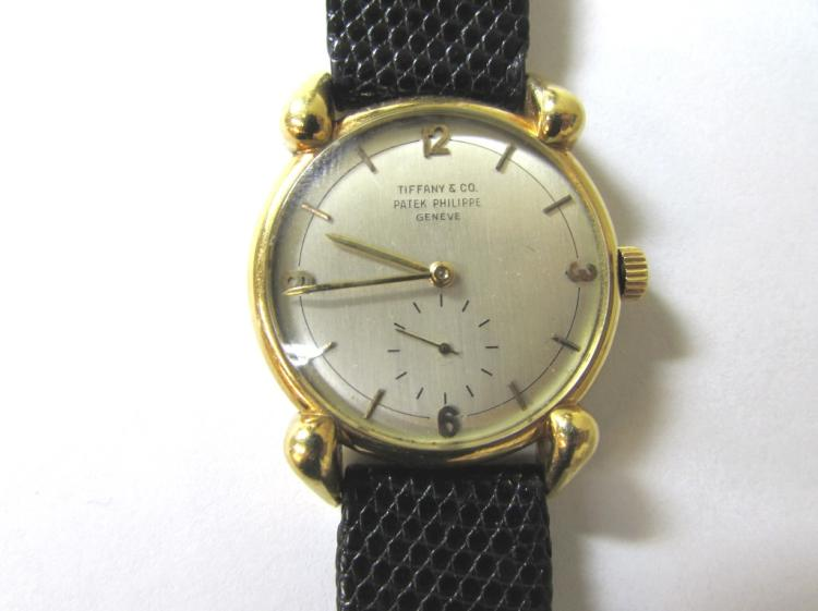 RARE PATEK PHILIPPE TIFFANY & CO WRISTWATCH 18K GOLD WATCH