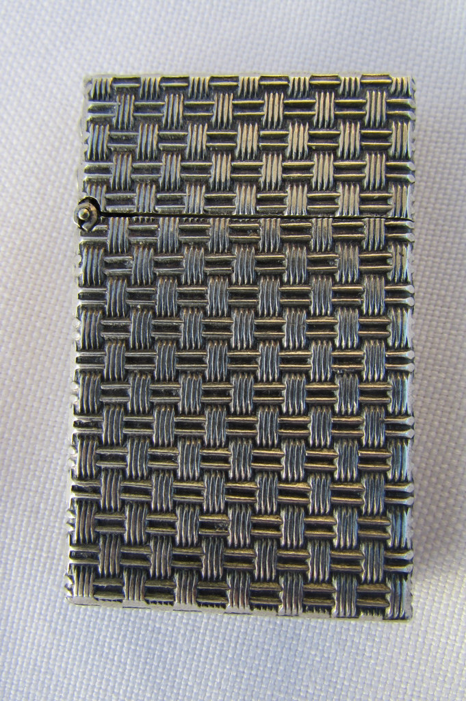 BASKET WEAVE STERLING SILVER LIGHTER TIFFANY STYLE