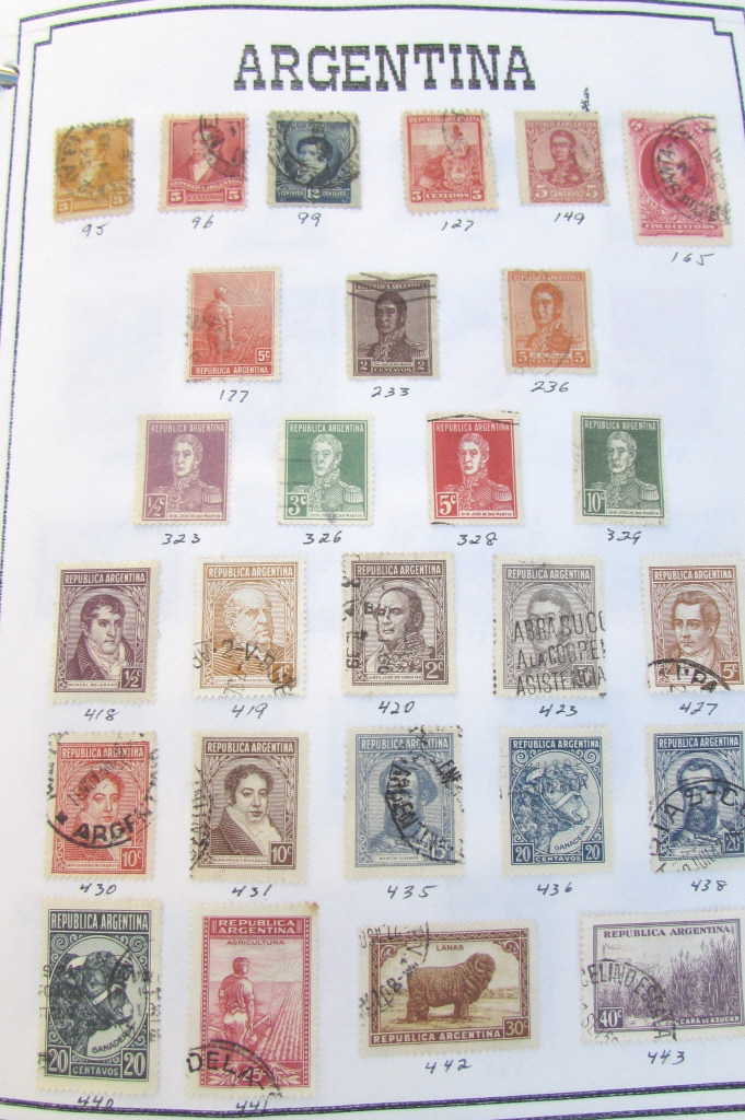 2 WORLDWIDE STAMP ALBUM COLLECTION POSTAGE BOOKS