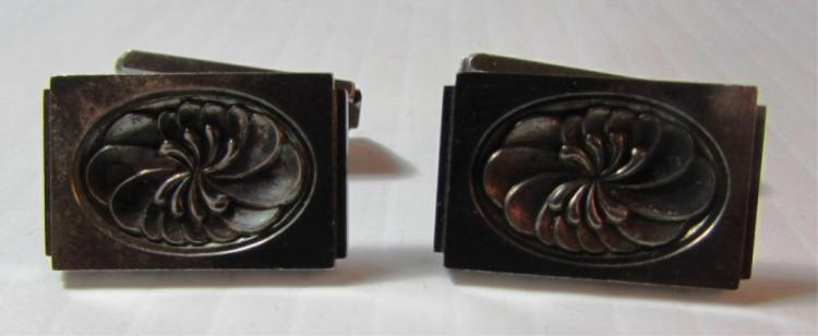 GEORG JENSEN LINKS STERLING SILVER CUFFLINKS #59