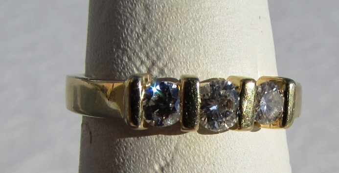 .35CT DIAMOND 14k GOLD BAND RING