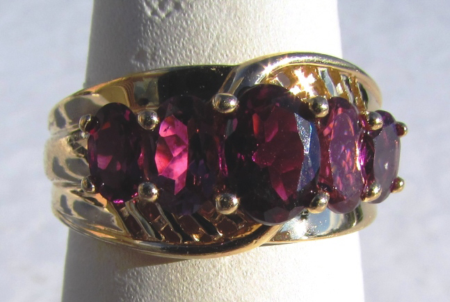 3CT GARNET 14k GOLD RING 4.7 GRAM SIZE 7 1/4