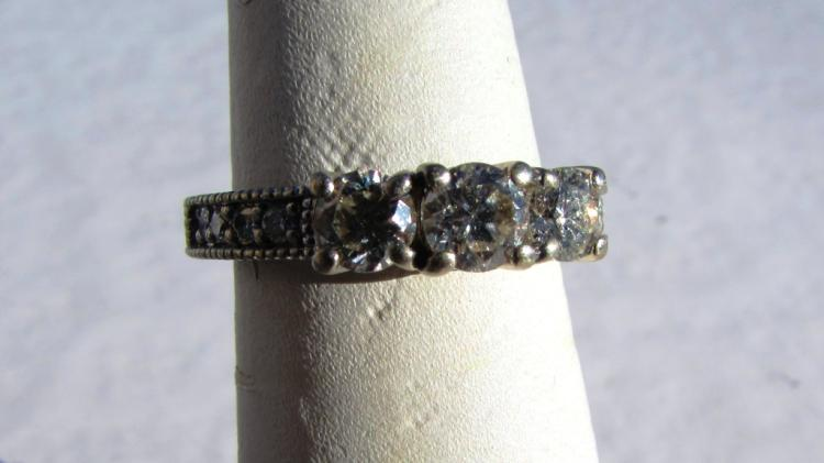 1CT DIAMOND 14K GOLD RING ENGRAVED