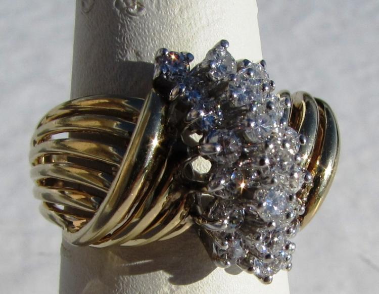 .75CT VS DIAMOND 14K GOLD RING 8.5 GRAM