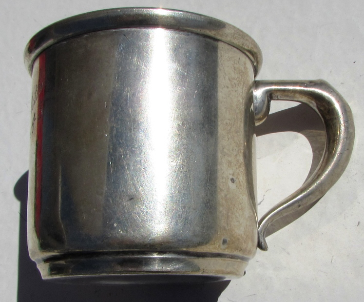 STERLING SILVER BABY CUP MANCHESTER 103 GRAM