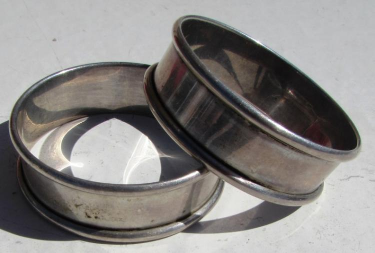 2 WEBSTER STERLING SILVER NAPKIN RINGS 17.4 GRAM