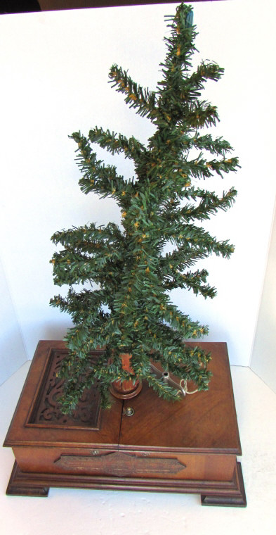 GERMAN CHRISTMAS TREE MUSIC BOX ANTIQUE CHRISTBAUM