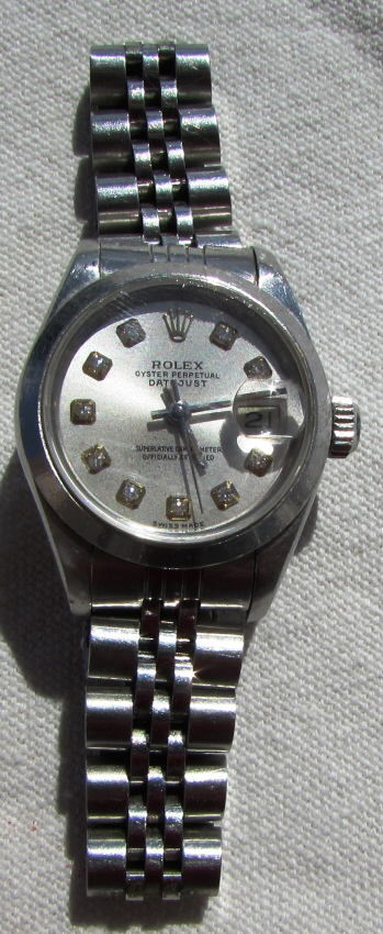 ROLEX DIAMOND DATEJUST WATCH SS LADIES 69160