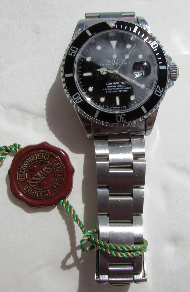 ROLEX SUBMARINER SS 16610 WATCH AUTO DIVER