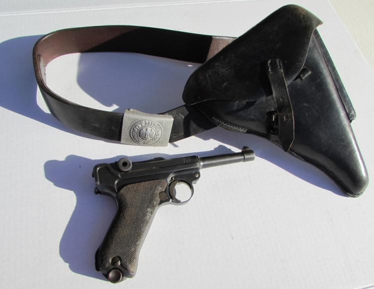 GERMAN LUGER 1918 NAZI HOLSTER BELT 9mm PISTOL WW1