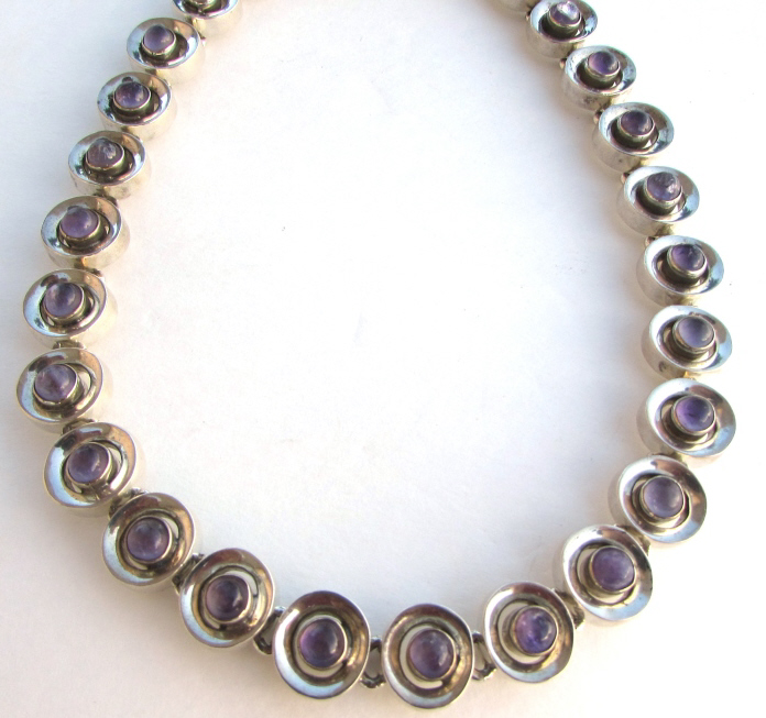 TAXCO AMETHYST STERLING SILVER NECKLACE TA-41 AAR
