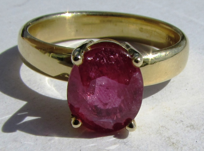 TIFFANY & CO 3.65CT RUBY RING 18K GOLD SIZE 11