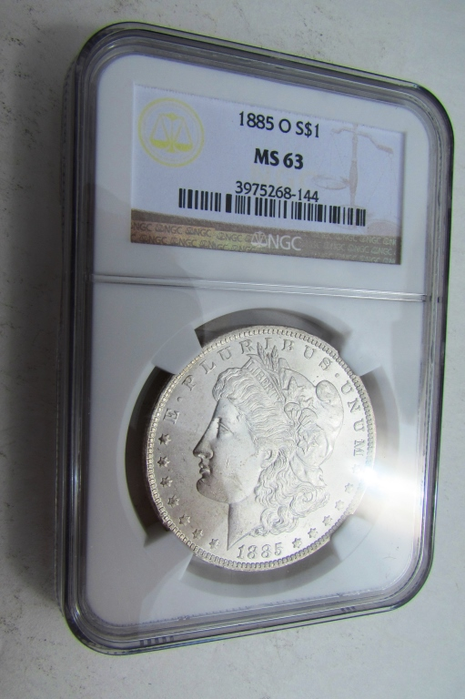 1885O SILVER DOLLAR NGC MS-63 CERTIFIED MORGAN